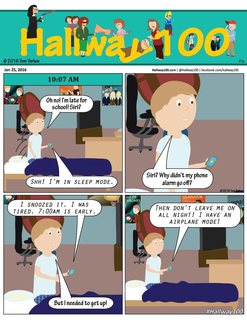#hallway100 Just ask Siri